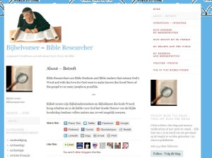 Bijbelvorsers - about Nov. 14 11.41