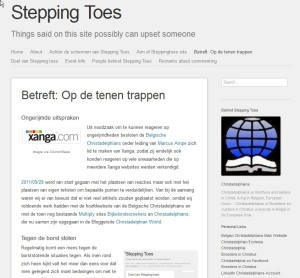 Stepping Toes Betreft Nov. 17 15.24