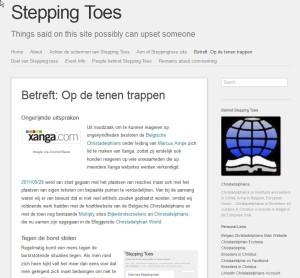 Stepping Toes Betreft Nov. 17 15.24