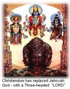 Threeheaded god of paganism