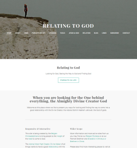 Relating to God (weebly.com Christadelphian website) homepage on opening day 2016 March 9